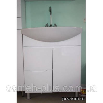 Тумба для ванной комнаты Висла Т4 с умывальником Изео-75, фото 2