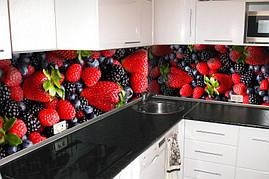 Кухонный фартук Лесная ягода кухонные фартуки фотопечать скинали абстракция 600*2500 мм