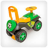 Каталка толокар «Автошка» музична (жовто-зелена), фото 2