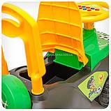Каталка толокар «Автошка» музична (жовто-зелена), фото 4