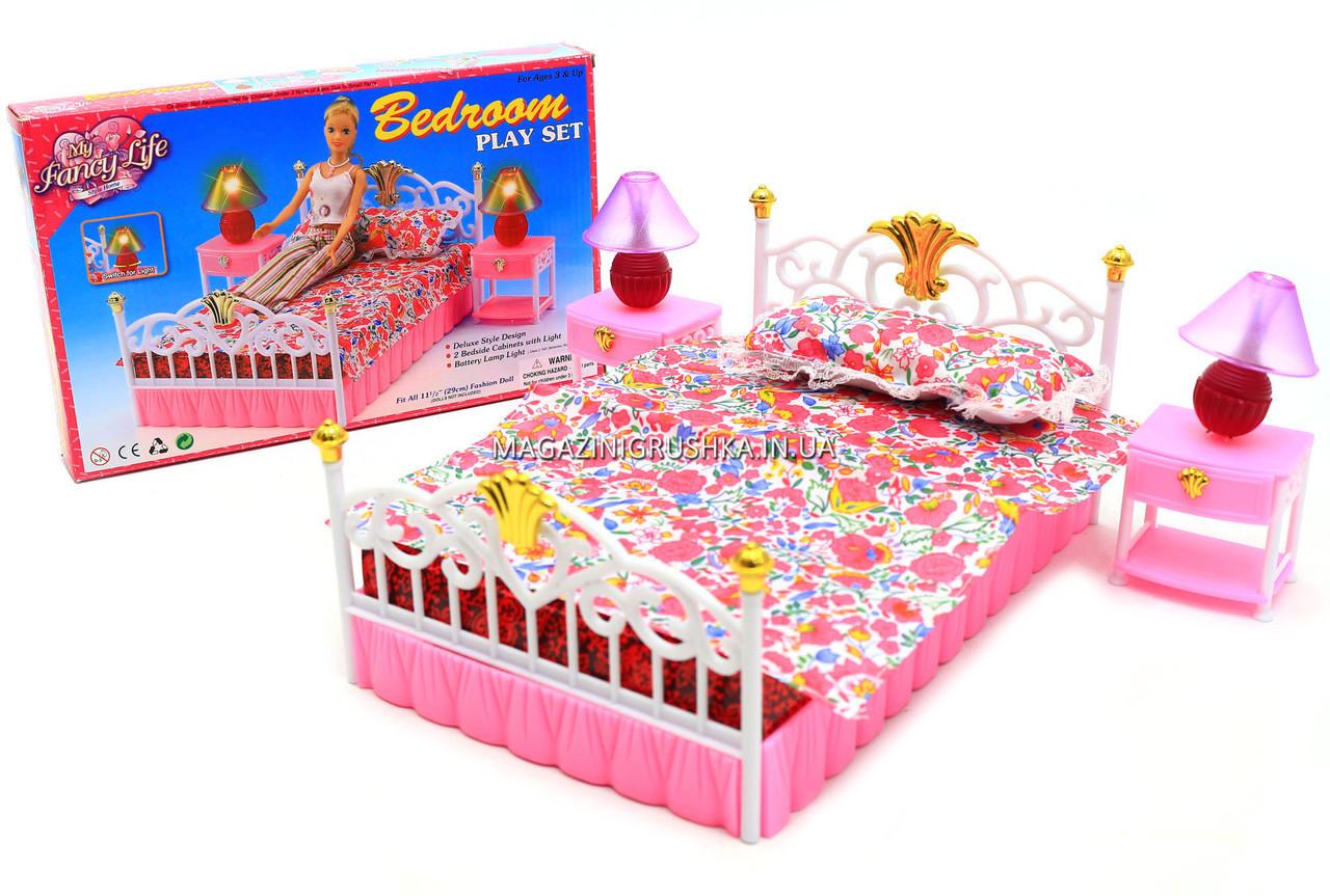 Детская игрушечная мебель Глория Gloria для кукол Барби Спальня 99001. Обустройте кукольный домик