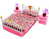 Детская игрушечная мебель Глория Gloria для кукол Барби Спальня 99001. Обустройте кукольный домик, фото 3