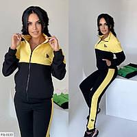 Классический спортивный костюм кофта на молнии и штаны из двухнитки р-ры 42-48 арт. 900