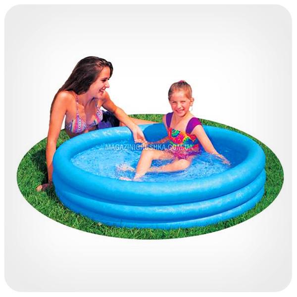 Дитячий басейн для вулиці і пляжу «Кришталевий» (3 кільця)
