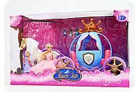Кукла с каретой и лошадью 205A (лошадь ходит, на батарейках), фото 1