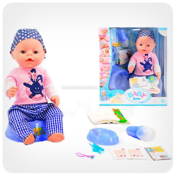 Інтерактивна лялька Baby Born (бебі бон). Пупс аналог з одягом і аксесуарами 8 функцій бебі борн ВL 013 А