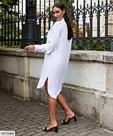 Подовжене жіноча сукня-сорочка літній вільного крою