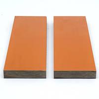 Накладки G10 для рукояти ножа Orange-Beige-Black (оранжево-бежево-черный) 125х40х9.4мм (пара), фото 1