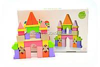 Дитячий дерев'яний конструктор Замок Cubika(Кубики) 11346. Дерев'яні еко іграшки, фото 1