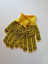 Рукавиці жовті Аліски робочі