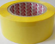 Пакувальний жовтий скотч, кольоровий скотч 300 метрів Super Clear