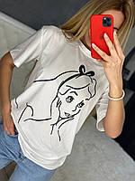 Стильная однотонная футболка Onesize, фото 1