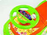 Каталка толокар «Автошка» (зелено-оранжева), фото 2