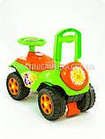 Каталка толокар «Автошка» (зелено-оранжева), фото 3