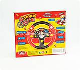 Детский музыкальный руль «Я тоже рулю», красный, русский язык, диам - 24 см. (7044), фото 2