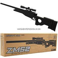 Снайперская винтовка «Airsoft Gun», черная, 115 см, дальность стрельбы 50 м, скорость 80 м/с (ZM52)