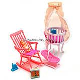 Детская игрушечная мебель Глория Gloria для кукол Барби Детская комната 9929. Обустройте кукольный домик, фото 3