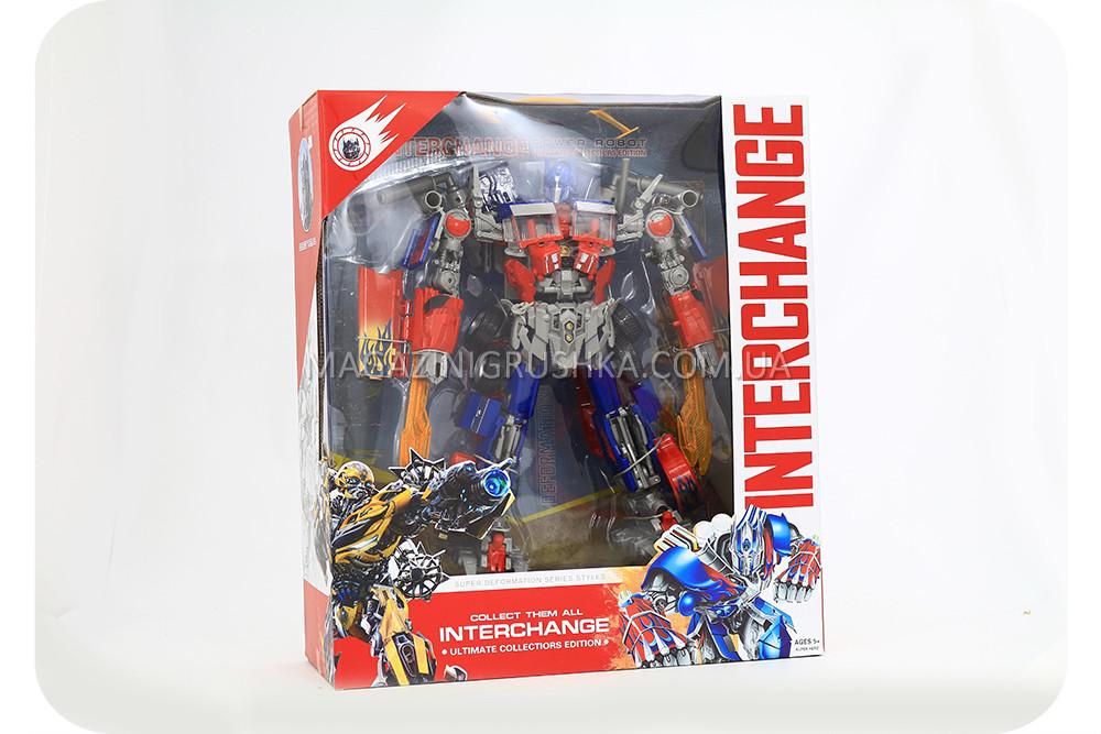 Трансформер-робот «Inter Change» - Оптимус Прайм (свет, звук, 45 см) 4106