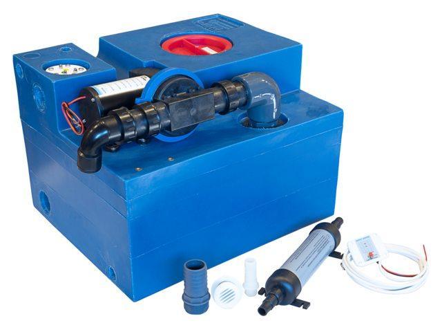 Цистерна стічних вод з мацератором Albin, 47 л 12V