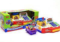 Кассовый аппарат Магазинчик. Игрушечный детский набор для игры в супермаркет 7162, фото 1