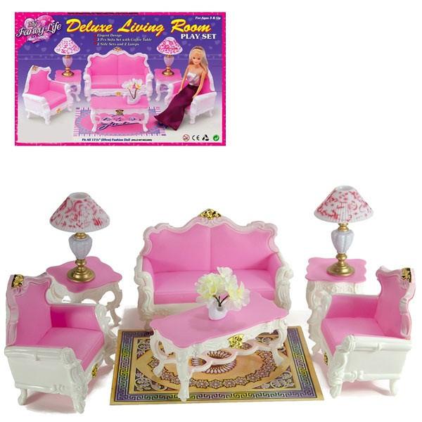 Дитяча іграшкова меблі Глорія Gloria для ляльок Барбі Вітальня 2317. Облаштуйте ляльковий будиночок