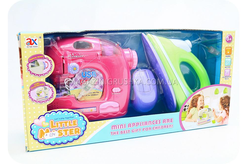 Ігровий набір Little Master з праскою і швейною машинкою (світло, звук) 6951C
