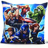 Подушка детская для ребенка «Супергерои Марвел», 40х40х10 см (00291-27)
