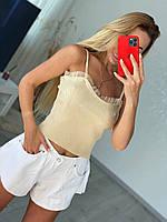 Стильный топ -майка с фатином, фото 1