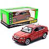 Машинка игровая автопром «BMW X6» джип, металл, 18, красный, свет, звук, двери открываются (6825A)