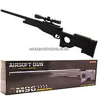 Снайперская винтовка «Airsoft Gun», черная, 115 см, дальность стрельбы 50 м, скорость 95 м/с (M96)