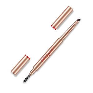 Карандаш для бровей BIOAQUA Double Dark Brown 0,4 г водостойкий двухсторонний