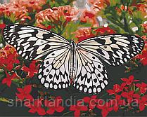 Картина по номерам  Красавица в цветах 40х50 см 13119-AC Art Craft