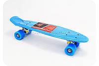 Пенни борд с бесшумными колесами MS 0848 - голубой, фото 1