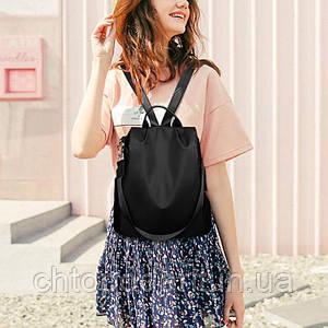 Рюкзак сумка антивор женский городской черный Код 10-0108