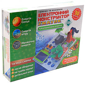 Конструктор электронный Znatok «Знаток» Альтернативная энергия 50 проектов (REW-K70690)