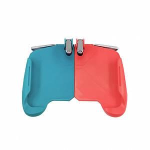 Игровой геймпад триггер Lesko AK16 Red + Blue джойстик мобильный для игр на смартфоне