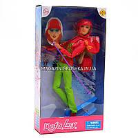 Кукла Defa лыжница для девочки 8373 - В салатовых штанах.