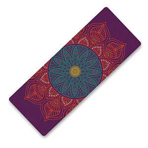 Килимок для йоги та фітнесу Dingming YZS-16 1830*660*6mm Об'ємний квітка