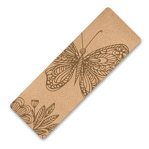 Килимок для фітнесу і йоги Dingming YZS-17 1830*610*6mm Метелик