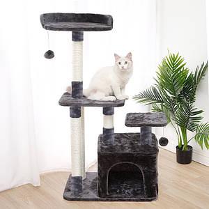 Когтеточка-домик для кота Taotaopets 045513 Grey дряпка 63*18*43 см
