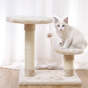 Когтеточка для кота Taotaopets 046609 Beige дряпка 40*30*40 см