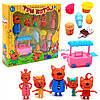 Дитячий ігровий набір фігурок «Три кота. Павільйон з солодощами» - 5 фігурок, візок, товар N73-2