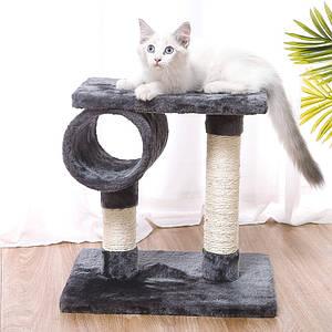 Когтеточка для кота с полками Taotaopets 046610 Grey 40*40 см