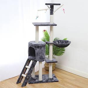 Когтеточка-домик для кота Taotaopets 047706 Grey дряпка 140*54*30 см