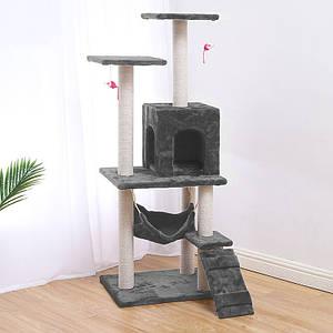 Когтеточка-домик для кота Taotaopets 047707 Grey дряпка 140*54*30 см