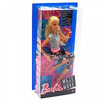Кукла Барби серия «Двигайся как я» Mattel блондинка в цветных лосинах, 30 см (FTG80)