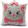 Подушка детская для ребенка KinderToys «Кошечка» 35х35х10 см (00235-345)