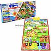 Детский обучающий плакат «Країна іграшок» ферма, укр яз, буквы, цифры, цвета, 45х60 см, PL-719-25