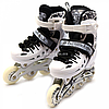 Детские ролики Scale Sports белые (размер 31-34, металл, светящиеся колёса ПУ) 1932601125-s