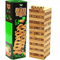 Настольная игра башня Vega (Вега) по номерам. Версия игры Дженга (Jenga) NT-01, фото 1